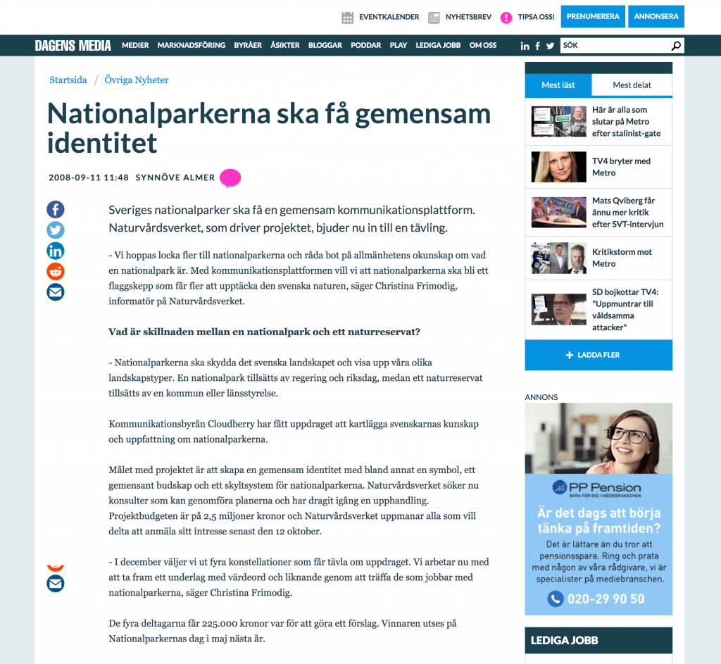 gemensam identitet nationalparker
